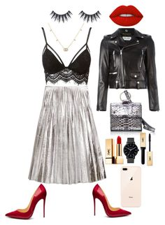 """""""Untitled #107"""" by ghita-rahmoune ❤ liked on Polyvore featuring Gucci, Charlotte Russe, Yves Saint Laurent, Christian Louboutin, Hayward and Lime Crime"""
