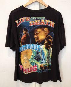 0eccf884 Vintage 90's Rap T-Shirt - Notorious B.I.G. Memorial Tee Boho Summer  Outfits, Urban