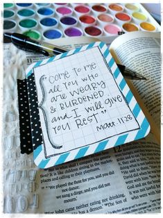 There are lots of ways to Bible Journal: In a Wide Margin Bible In a Coloring Bible In a Journal On a Computer (Digitally) In a Notebook In a Planner On Cards Whatever method you use you can make it p