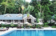 The Clubhouse Restaurant is the heart of Lagen Island Resort, an eco-resort on a small island off Palawan (recently voted most beautiful island in the world by Conde Nast Traveler).