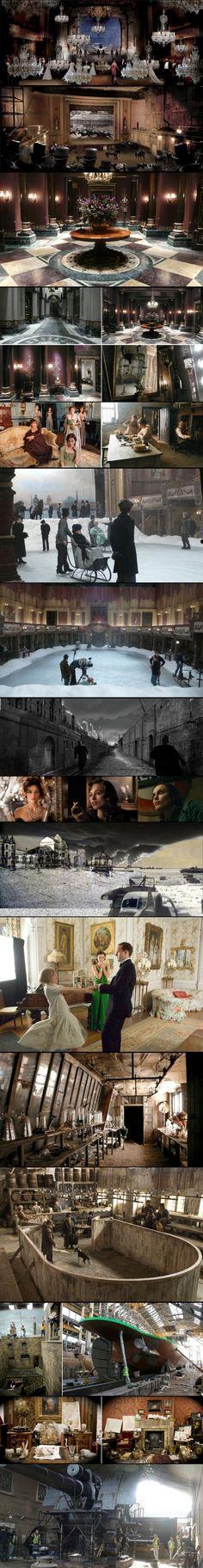 the art of set design - Anna Karenina, Atonment, Sherlock Holmes - Sarah Greenwood
