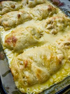 This is one of my all-time favorite dishes. My mom made these YEARS ago when I was in high school and I LOVED them!  Chicken Roll Ups  Recipe: http://bestfoods02.blogspot.com/2014/08/chicken-roll-ups.html