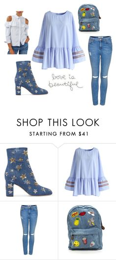 """""""Untitled #3205"""" by doinacrazy ❤ liked on Polyvore featuring Valentino, Chicwish and Topshop"""