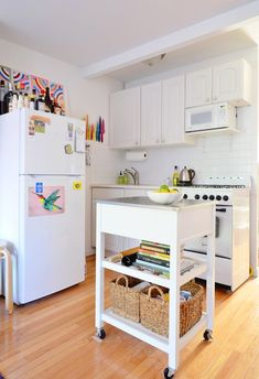 Kitchen Cart: The Piece That Transformed My Tiny Kitchen | Apartment Therapy