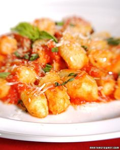 gnocchi with tomato sauce    reilly's request    this was super yummy!