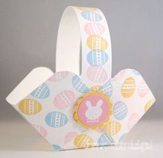 Easy to Make Card Stock Easter Baskets #stampinup #easter #papercrafts
