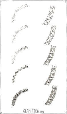 Untitled - Step by Step Zentangle Pattern : two borders