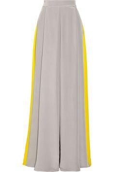 Roksanda Ilincic | Two-tone crepe de chine maxi skirt | NET-A-PORTER.COM