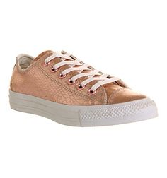 dd1d3e593d1fd3 Converse All Star Low Rose Metallic Snake Leather - Unisex Sports