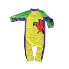 Cool Papagayo Bodysuit for the smallest - ecological, multifunctional & UV-protective!   www.solamigos.com
