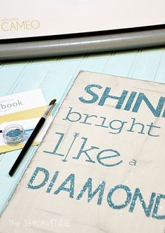 Our friends from Silhouette are back at The 36th AVENUE with a great promotion for you my friends. I made this glitter sign using my own Silhouette and the Double Sided Adhesive Starter Kit that we are offering today.   All you need to do is visit their site here and enter the code avenue …