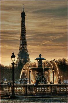 """""""Fontaine Place de la concorde"""" by Yvon Lacaille on Flickr ~ Fontaine Place de la Concorde, Paris, France"""