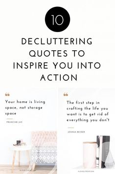Do you need a little motivation to start or maintain your decluttering? Check out these 10 decluttering quotes to inspire you into action. Joshua Becker, Getting Rid Of Clutter, Declutter Your Life, Good Energy, Busy Life, Craft Storage, Decluttering, Simple Living, First Step