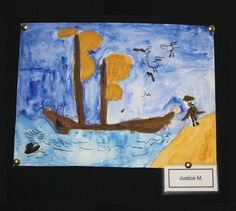 4th grade students at Meeting Street Academy use #watercolor to explore Viking themes.  MSA founder Ben Navarro champions educational opportunities for under-resourced  families.  Elementary art education is a key component of his vision.  #MeetingStreetAcademy #Art #Education #SCSchools #BenNavarro #ShermanFinancialGroup