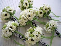 damask wedding centerpieces ideas | Damask Bouquet Wraps