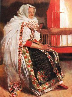kalotaszegi_menyasszony Folk Costume, Costumes, Medieval Castle, Eastern Europe, Pretty Woman, The Dreamers, Dress Up, Culture, Bride