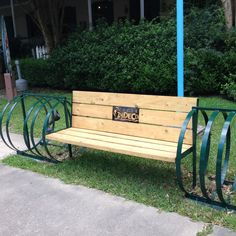 The Cycle Zydeco bench and bike rack at Vermilionville.