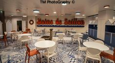 Gio chairs and Domino fixed base by SCAB Design for Le Restaurant des Baigneurs, Saillon - Swisse
