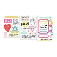 Becky Higgins | Project Life Chipboard Stickers : High Five Edition | Scrapdelight Scrapbookwinkel