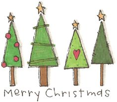 FREE Printables of CUTE Christmas Doodles
