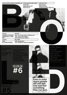 BOLD #6 — A2 Poster (white silkscreen print over the BOLD #5 Poster)