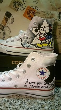 df264e074f9 Disney hand painted shoes converse hand by christinaPcreations