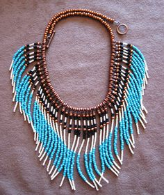 Native American style turquoise and tan by MontanaTreasuresbyMJ