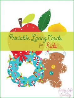A frugal and fun way to create printable lacing cards for kids so they can practice their fine motor skills.