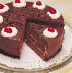 Čokoládová torta s višňami