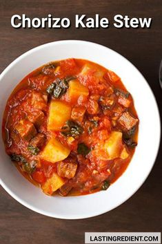 My requirements were that it had to be both spicy and filling. Pimentón along with Spanish chorizo added heat, and Yukon Gold potatoes gave the chunky tomato broth the heft I craved on a chilly spring evening. I took that first bite and said Yukon Gold Potatoes, Best Comfort Food, First Bite, Frozen Treats, Chorizo, Kale, Stew, Soup Recipes