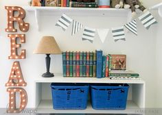Create a sign for a reading nook in the kids' room using Heidi Swapp Marquee letters!