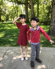 Perfect day for some summer fashion photos. #fashion #siblinglove #siblings #red #reddress #redoutfit #weekend #weekendvibes #childfashion #behindthescenes
