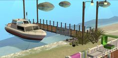 Mod The Sims - How to Build a Dock on a Beach Lot