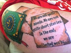Book tattoo. storied life of aj fikry. Blue lotus tattoo madison, wi