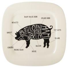 Threshold™ Pig Square Serving Platter - Cream