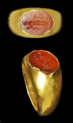 Gold 'Demeter' Intaglio Ring, Roman, 1st century B.C.-1st century A.D.