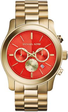 Michael Kors Oversiz    Michael Kors Oversize Golden Stainless Steel Runway Chronograph Watch #running #runningmen #menfitness #runningtees #runningwear #runningwatch #runningwatches #sportswatches #sportsmenwatches #menwatches