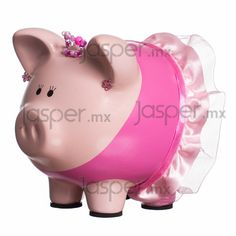 Alcancía de cerdito - Bailarina Pig Bank, Diy And Crafts, Arts And Crafts, Mini Pig, Cute Piggies, Pig Party, This Little Piggy, Cutest Thing Ever, Little Monkeys
