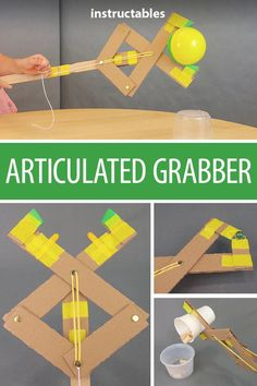 This articulated grabber is a great engineering project for kids! It can extend your reach by over STEM students class project science engineer STEAM kids learning teacher 26810560269854641 Science Projects For Kids, Engineering Projects, Stem Science, Science For Kids, School Projects, Crafts For Kids, Project For Kids, Class Projects, Science Art