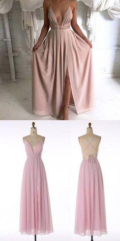 simple A-line prom dress, long prom dress,2017 prom dress