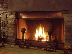 copper fireplace - Google Search