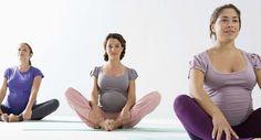 Grávidas fazem exercício para o parto