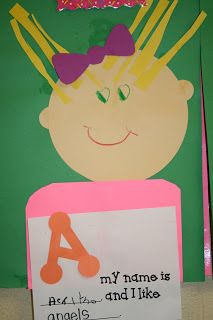 """This activity spins off the book, """"A My Name is Alice"""". Awesome idea for getting to know each other."""