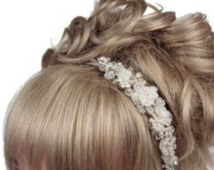 Wedding Hairband, Lace Headband, Wedding Sideband, Wedding Headdress, Bridal Headdress, Wedding Tiara