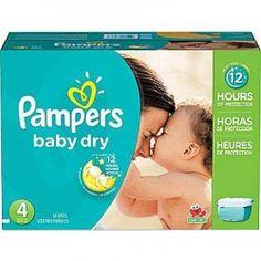 Maxi Pack de 372 Couches Pampers de la gamme Baby Dry taille 4 sur Les Looloos