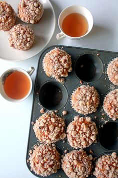 These homemade pumpkin and cream cheese muffins and a cup of tea!