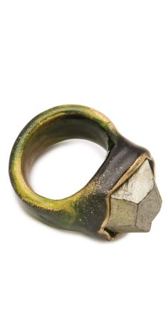Pyrite Pinky Ring by proteamundi