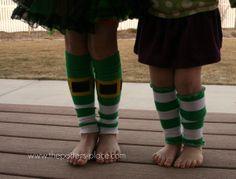 DIY leggings from socks...St. Patrick's Day style!  SUPER EASY.