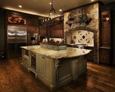 Love stone above and around stove