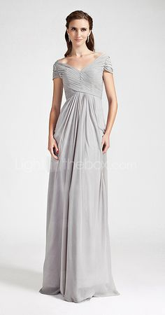 @amwidmann take a look at this website - tons of different dress styles and like 4 different fabrics plus like 15 diff colors - all for a reasonable $80 average price   Sheath/Column Off-the-shoulder Floor-length Chiffon Bridesmaid Dress